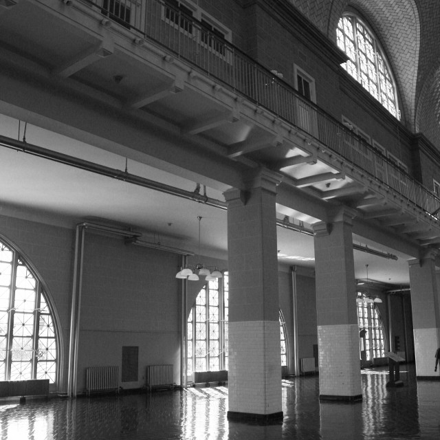 """Ellis Island 3"" stock image"
