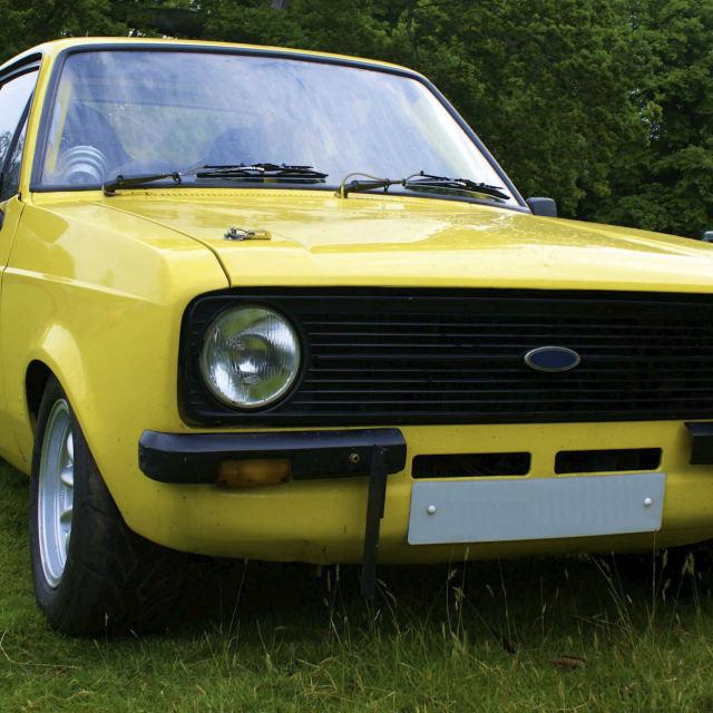 """""""Escort Classic Car MK2"""" stock image"""
