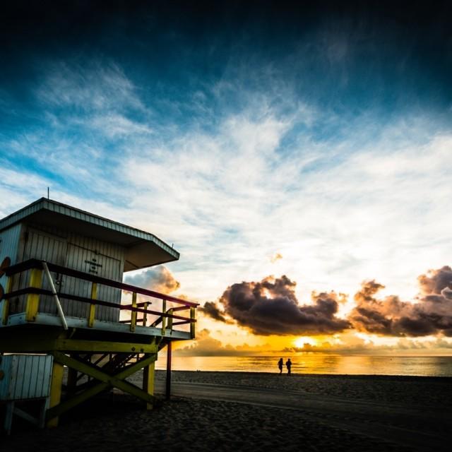 """Miami beach sunrise"" stock image"