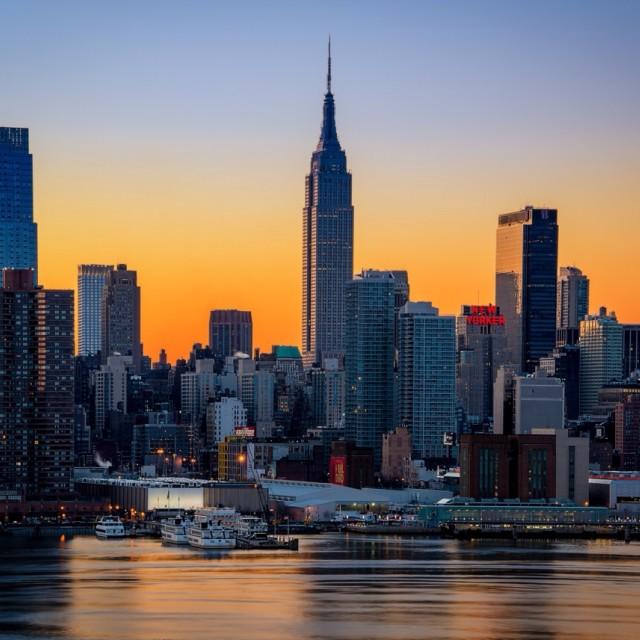 """Manhattan sunrise"" stock image"