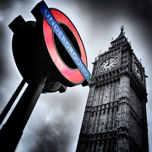 """London Underground."" stock image"