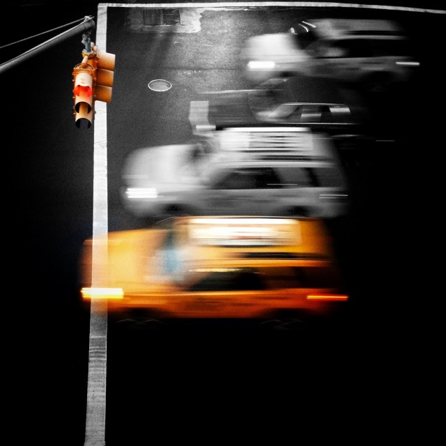 """Fast yellow cabs"" stock image"