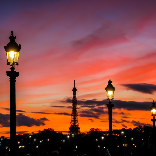 """Paris sunset"" stock image"