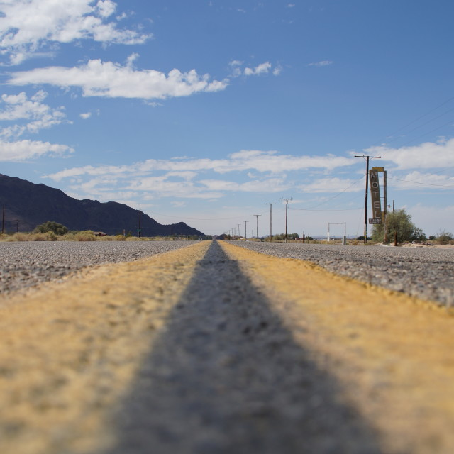 """Ants crossing US Route 66"" stock image"
