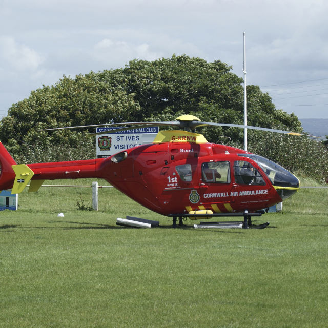 """Cornwall Air Ambulance"" stock image"