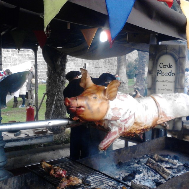 """""""Pig on a spit"""" stock image"""