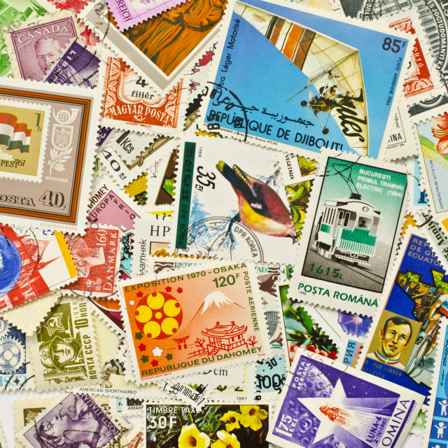 """World Stamps"" stock image"