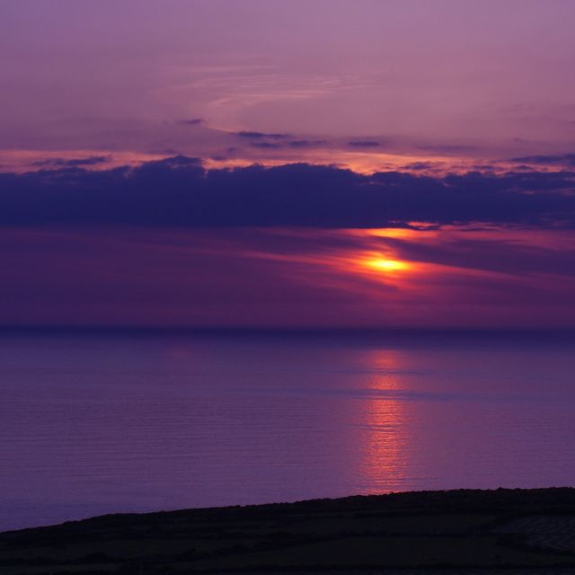 """Cornish Sunset"" stock image"