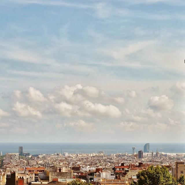"""Barcelona Sky lines"" stock image"