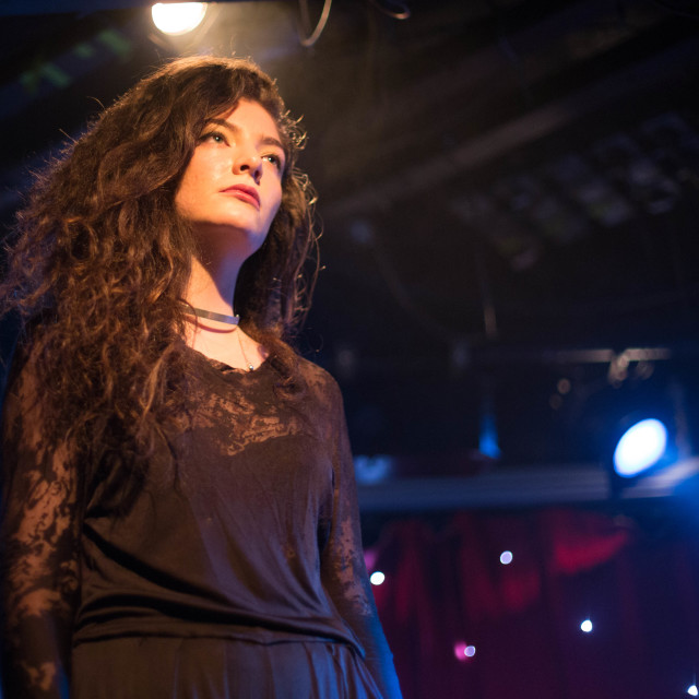 """Lorde at Madam JoJo's"" stock image"