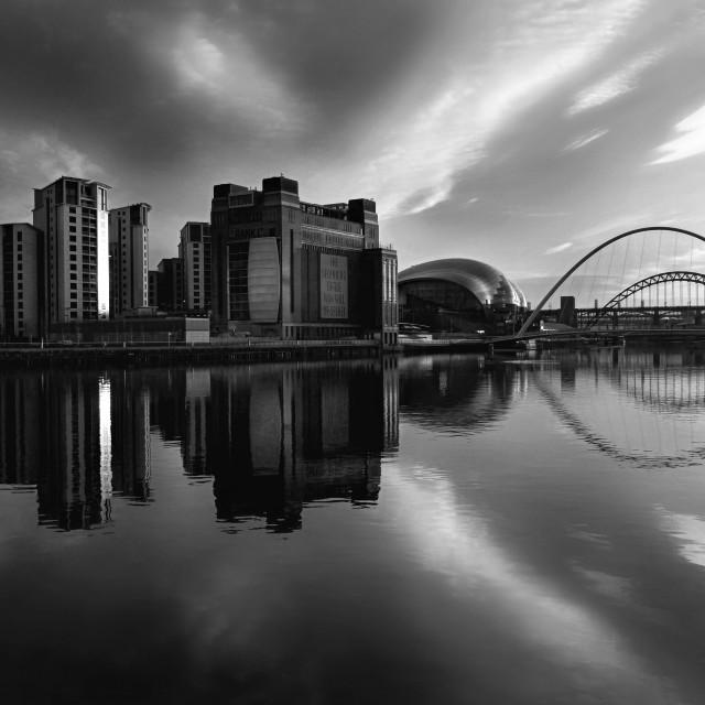 """""""Gateshead and bridges"""" stock image"""