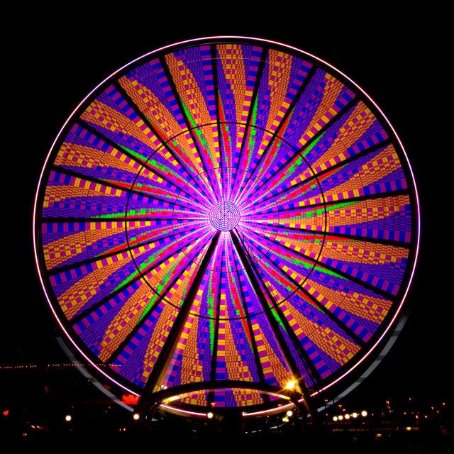 """""""Seattle Great Wheel - Pinwheel #1"""" stock image"""