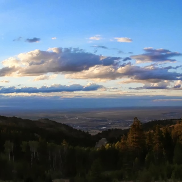 """Casper Mountain Panorama"" stock image"