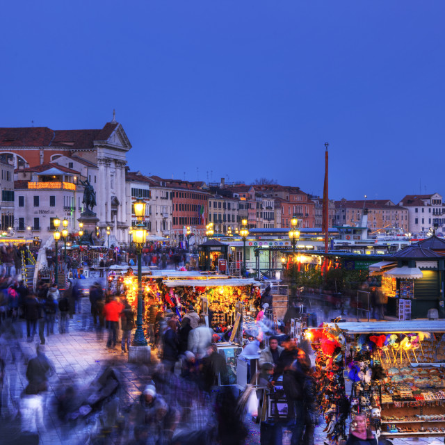 """Crowd in Venice"" stock image"