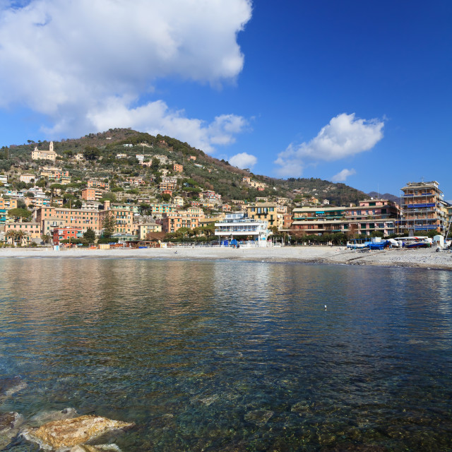 """recco waterfront, Liguria, italy"" stock image"