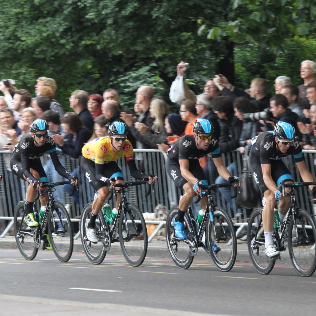 """Team Sky, Tour of Britain, Stage 8 (London), 22/09/2013"" stock image"