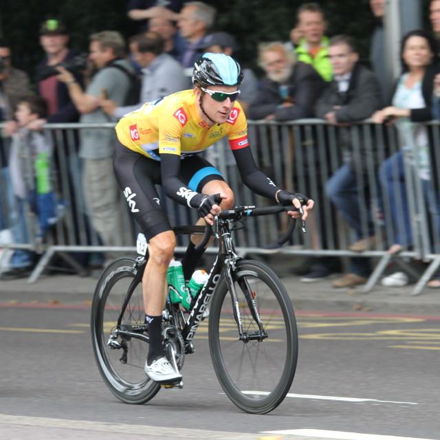 """Wiggo, Tour of Britain, Stage 8 (London), 22/09/2013"" stock image"