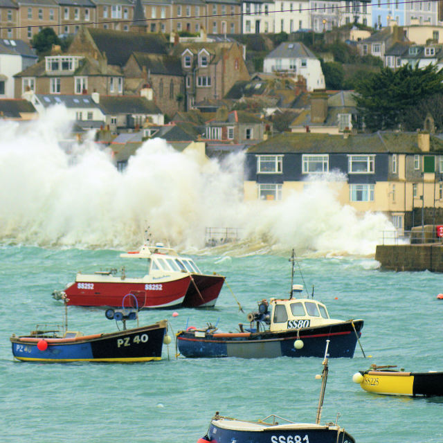 """St Ives Summer Storm"" stock image"