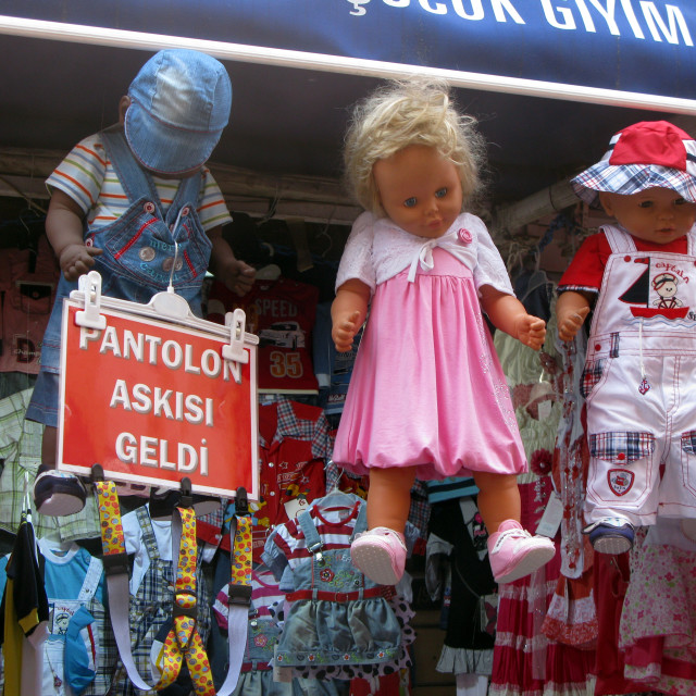 """Creepy hanging dolls"" stock image"