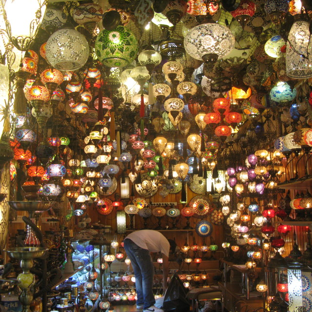 """Shop of 1001 lamps"" stock image"