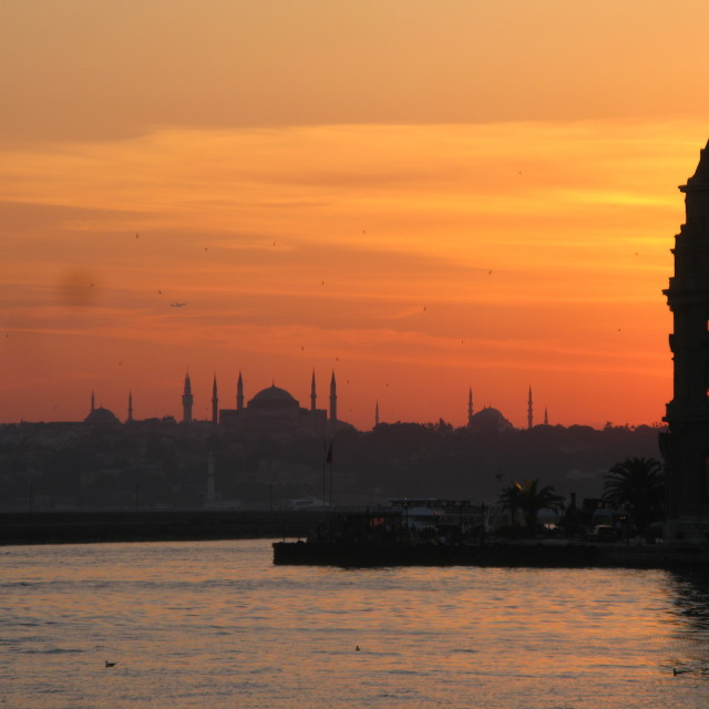 """Bosphorus sunset"" stock image"
