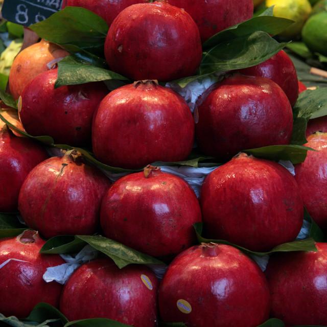 """Pomegranate Pile"" stock image"