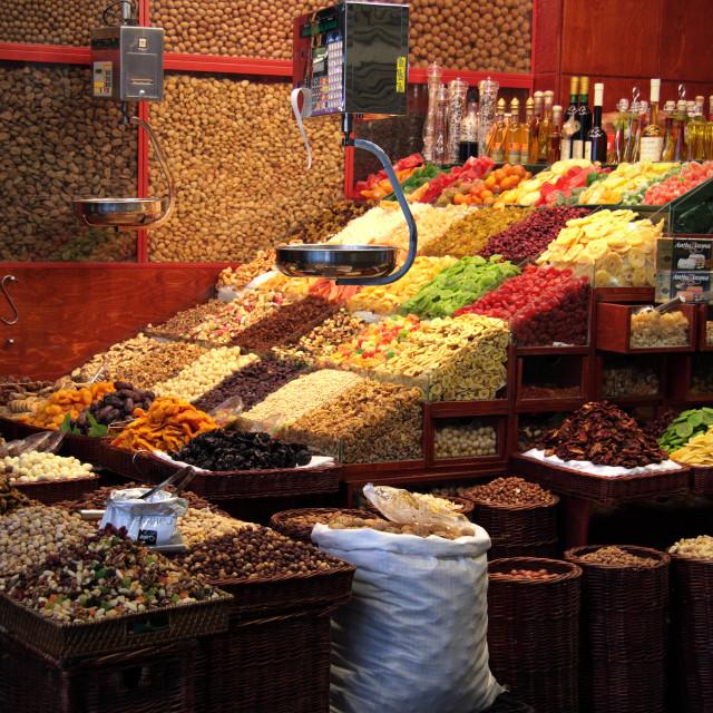 """Seedy Market Stall"" stock image"