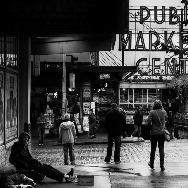 """Seattle Public Market"" stock image"