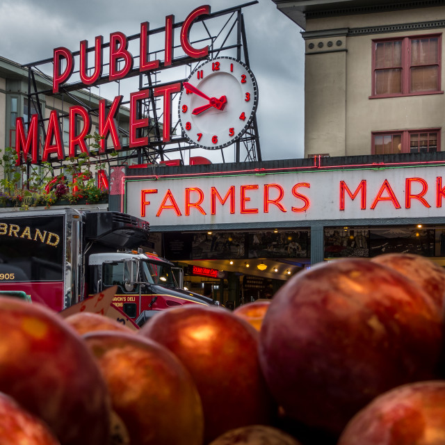 """Seattle Apples"" stock image"