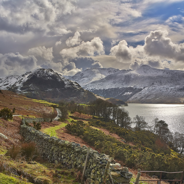 """Enjoy the Lake District"" stock image"