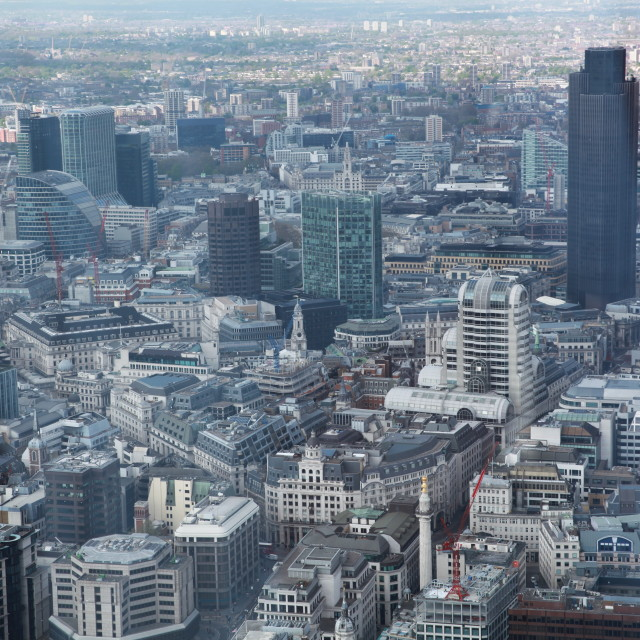 """""""View from the Shard"""" stock image"""