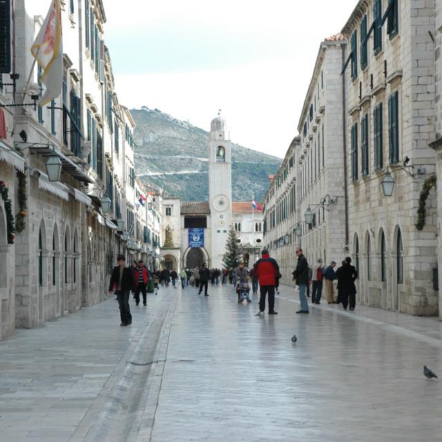 """Dubrovnik Stradun"" stock image"