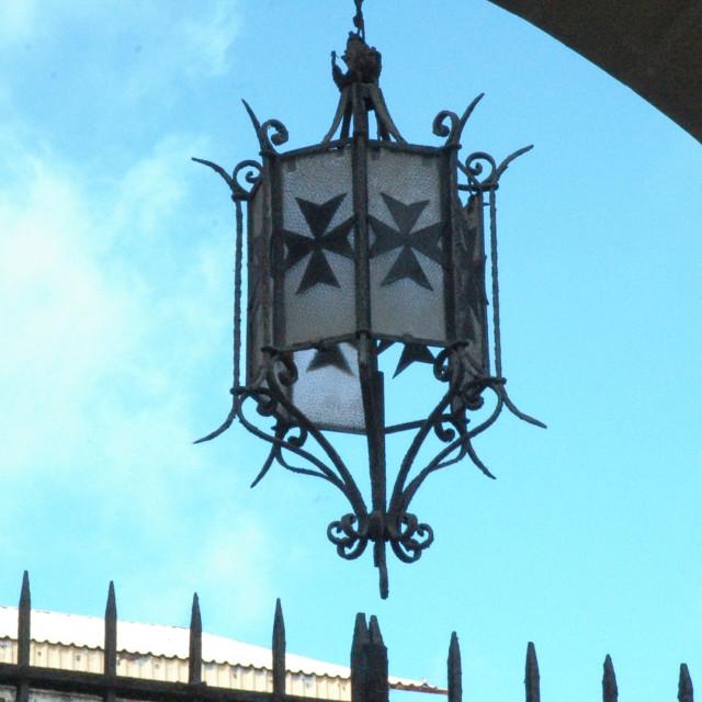 """Maltese cross lamp"" stock image"