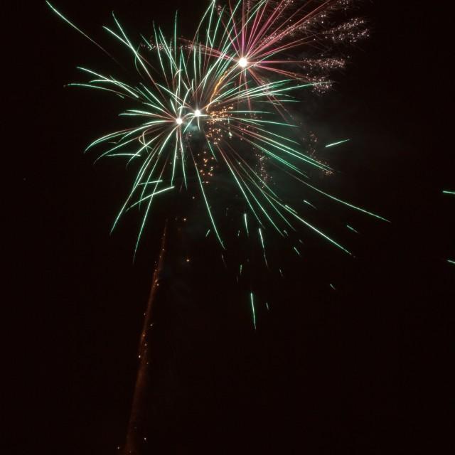 """Fireworks I"" stock image"