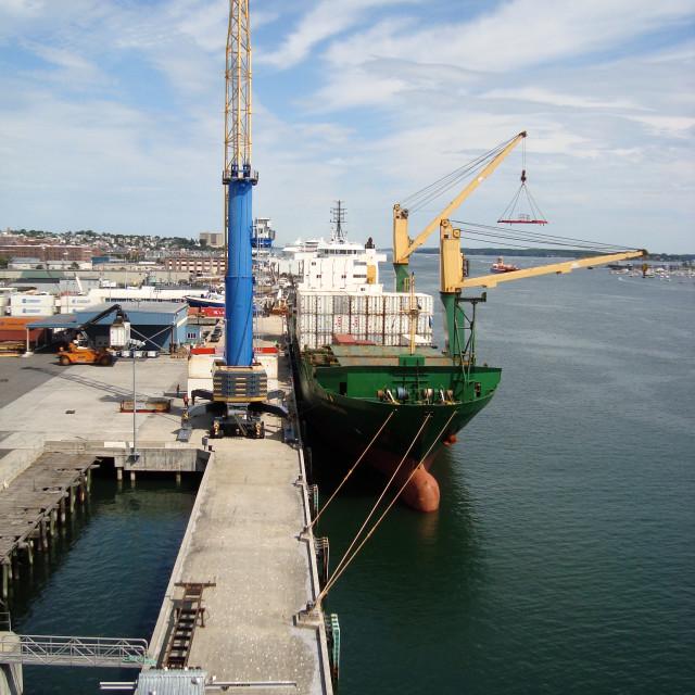 """Portland Maine Docks"" stock image"