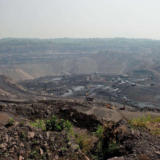 """""""Coal mine"""" stock image"""
