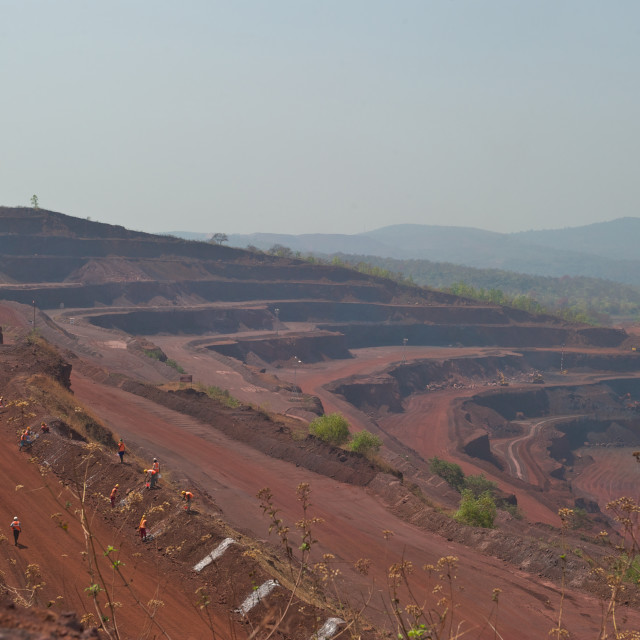 """Iron ore mine"" stock image"