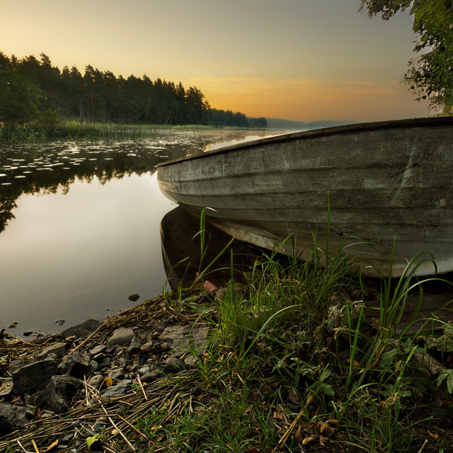 """Boat on shore"" stock image"