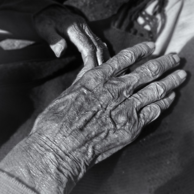 """Old hand"" stock image"