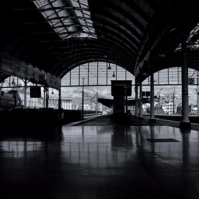 """station platform"" stock image"