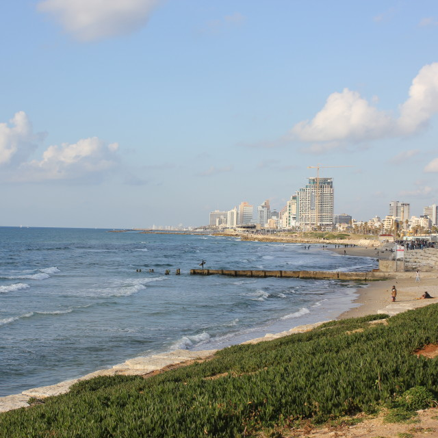 """Tel Aviv beach"" stock image"