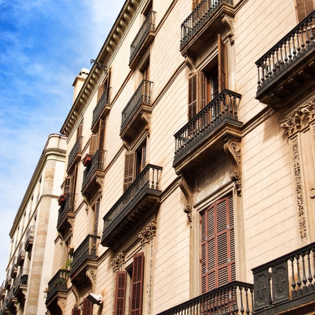 """Apartments of Barcelona"" stock image"