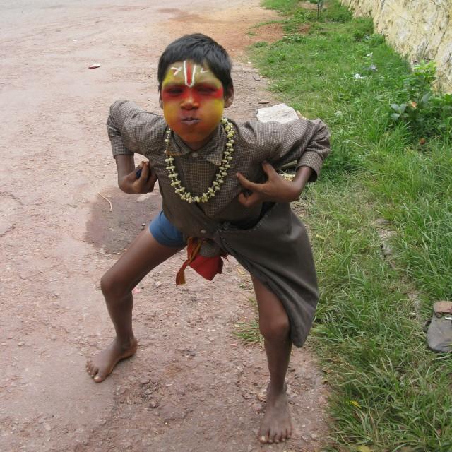 """""""Monkey Boy"""" stock image"""