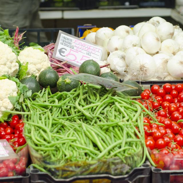"""""""Market Vegetables"""" stock image"""