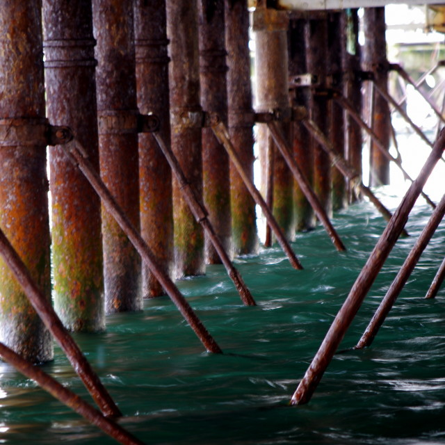 """Under the wharf"" stock image"