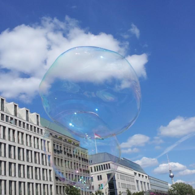 """A Bubble In Berlin"" stock image"