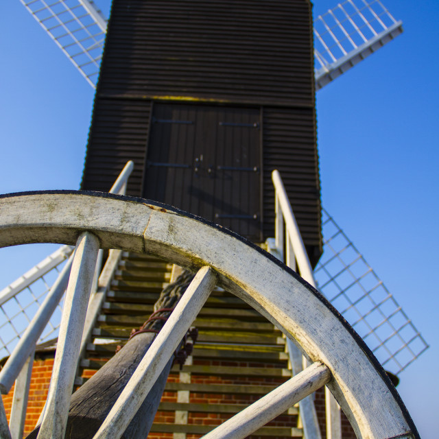 """Windmill at Brill"" stock image"