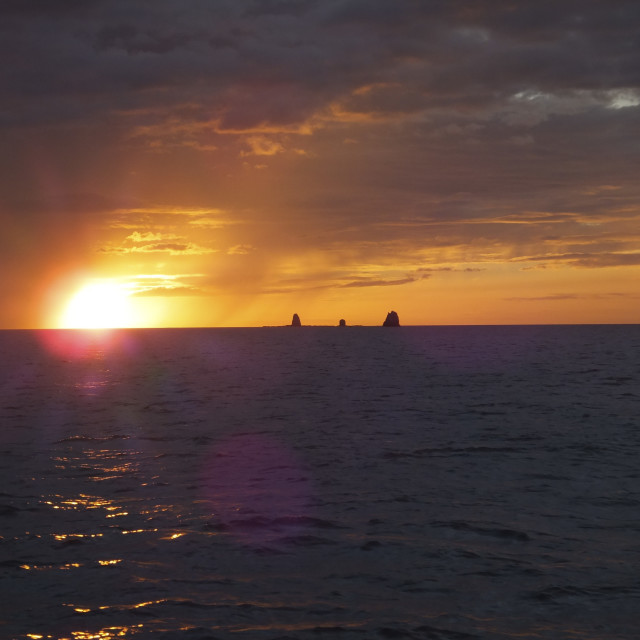 """Costa Rica Sunset"" stock image"