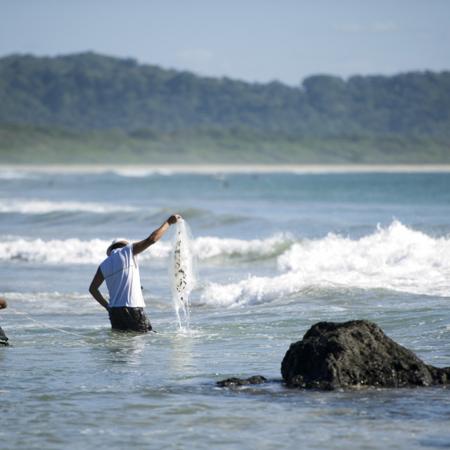 """Fishing in Costa Rica"" stock image"