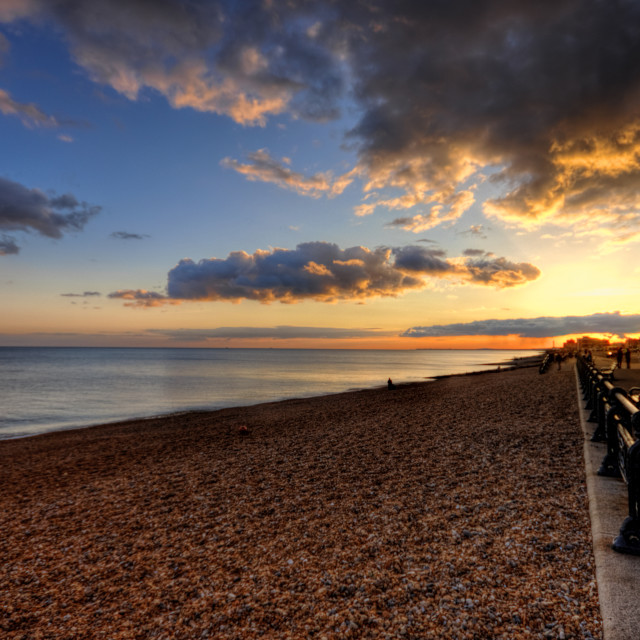"""Brighton Beach Sunset"" stock image"